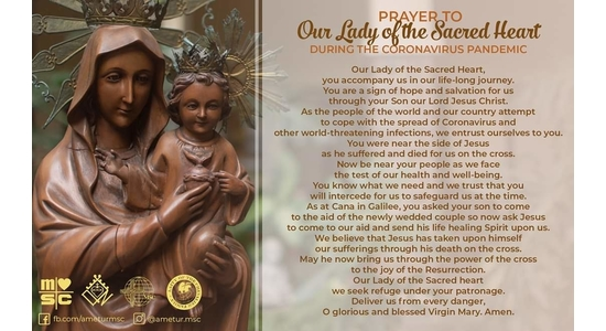 Prayer to the Our Lady of the Sacred Heart of Jesus